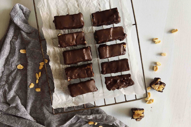 Healthy, Vegan and Delicious Chocolate Nougat Bars Recipe