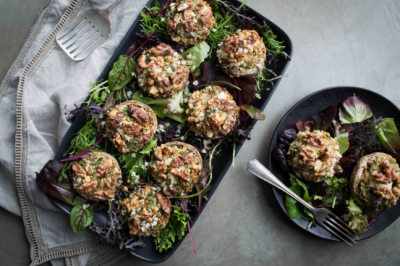 Healthy Vegetarian Quinoa-Stuffed Mushrooms Recipe