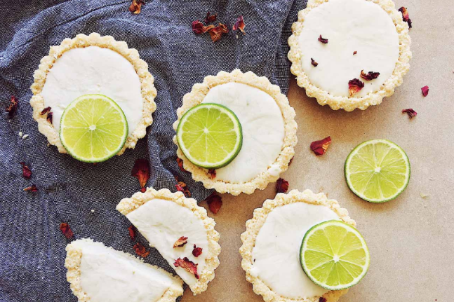 Lee Holmes' Healthy and Gluten-free Mini Lime Tarts Recipe