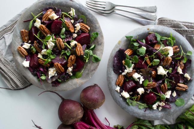 Gluten-free Beetroot, Maple and Pecans Salad Recipe