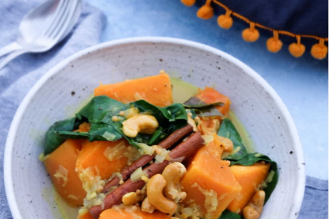 Healthy and Delicious Pumpkin and Cashew Curry Recipe