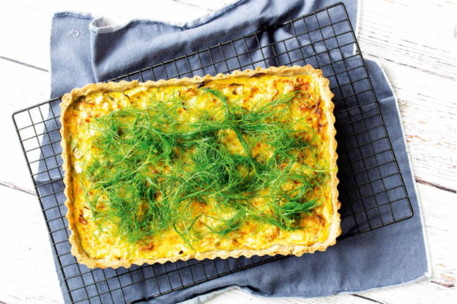Gluten-free and Quick Roasted Fennel Tart Recipe