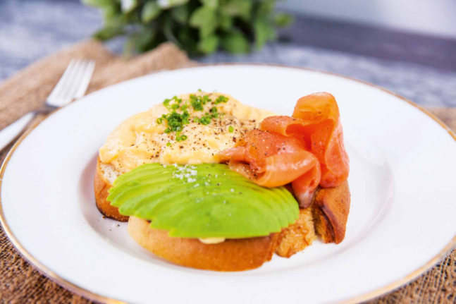 Creamed Eggs, Smoked Salmon & Avocado