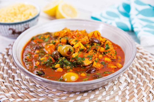 Chicken, Olive & Chickpea Tagine
