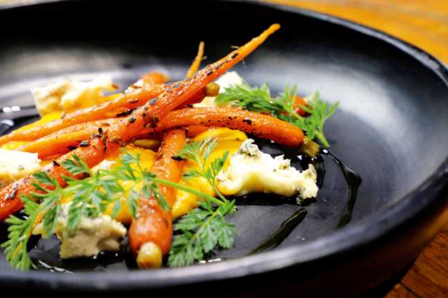 Roasted Carrot Salad with Tarago Shadows of Blue