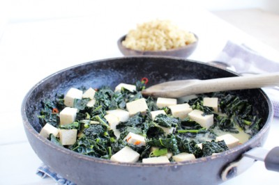 Try our Tofu and Kale braised in coconut and chilli recipe