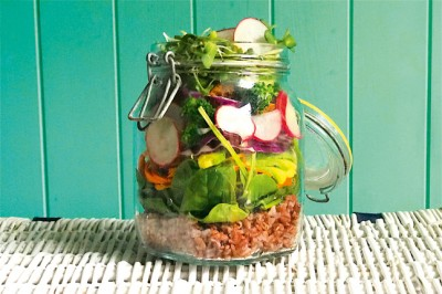 Rainbow Salad in a jar recipe