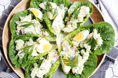 Egg Salad Cos Cups Recipe