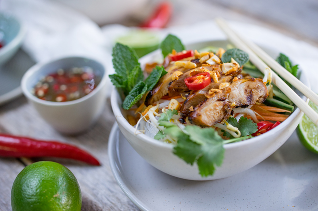 The Bare Bird Vietnamese Chicken Noodle Salad