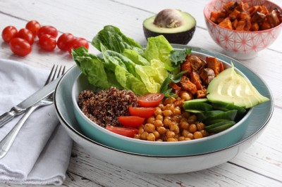Healthy Chickpea, Quinoa & Avocado Poke Bowl Recipe