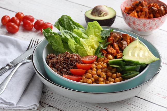 Healthy Chickpea, Quinoa & Avocado Poke Bowl Recipe