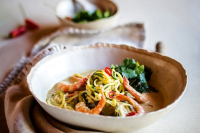 Prawn And Peanut Zoodle Soup Recipe