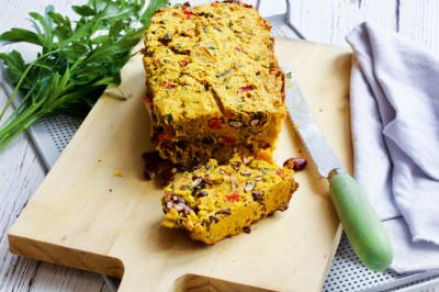 Plant Based kidney bean and sweet potato Loaf Horizontal