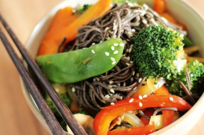 Black Bean Noodle Stir Fry