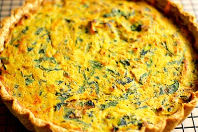 Mushroom And Spinach Vegan Quiche