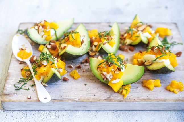 Mango, Ricotta And Avocado Cups