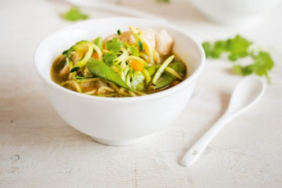 Chicen And Edamame Soup Recipe