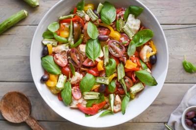 Tuscan-Inspired Vegetarian Okra Panzanella Recipe