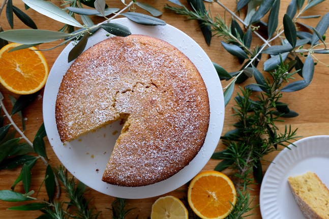 Portuguese Citrus, Rosemary and Olive Oil Cake Recipe