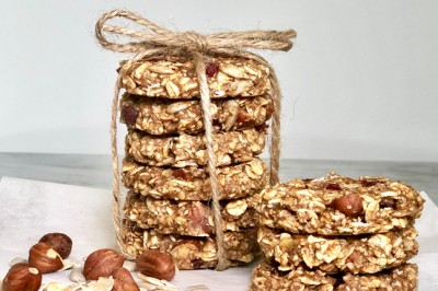 Vegan Cranberry and Oat Cookies with Shredded Coconut Recipe