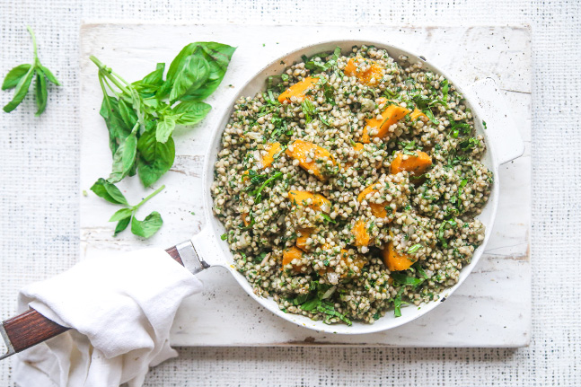 Jacqueline Alwill's Pumpkin, Basil and Buckwheat Risotto Recipe
