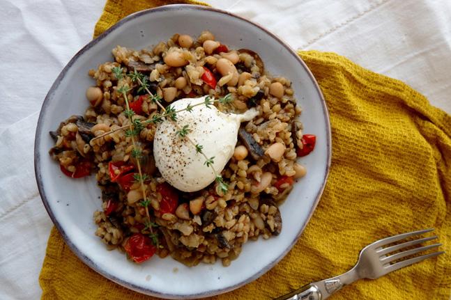 Barley, White Bean and Mushroom Risotto Recipe