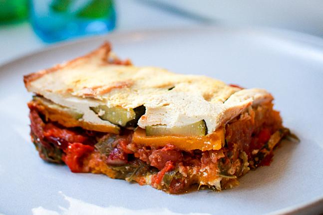 Vegan Pumpkin and Zucchini 'No Pasta' Lasagna by Adam Guthrie