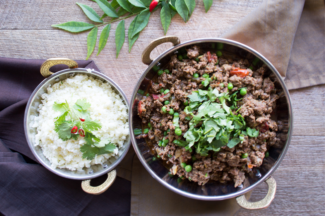 Georgia Harding's Indian-Spiced Mince with Peas Recipe
