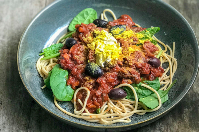 Adam Guthrie's Vegan Spaghetti Bolognese Recipe