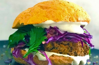 Try our delicious plant-based Tahini Lentil Burger Recipe