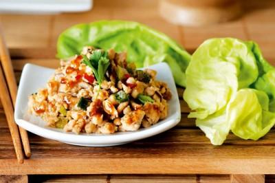 Turkey & Lettuce Wraps