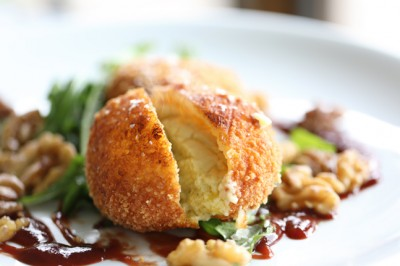 Tarago Blue Cheese Croquettes with Jack Rabbit Shiraz & Quince Sauce