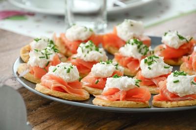 Smoked Salmon Blinis with Horseradish Cream