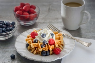 Healthy Plant-Protein Weekday Waffles