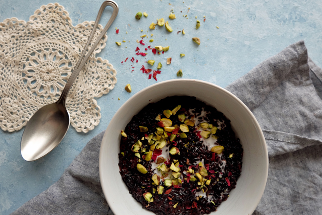 Black Rice, Cardamom and Kaffir Lime Risotto Recipe