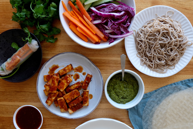 Try our delicious BBQ Tofu and Soba Noodle Rolls Recipe