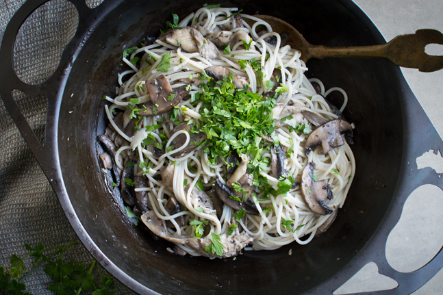 Try Georgia Harding's Mushroom and Thyme Pasta Recipe