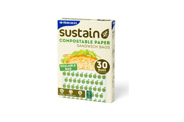 Hercules Sustain Compostable Paper Sandwich Bags