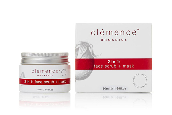 Clemence Organics 2 In 1 Face Scrub + Mask