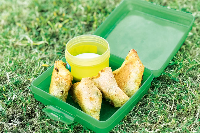 Try Adam Guthrie's delicious Potato and Pea Triangles
