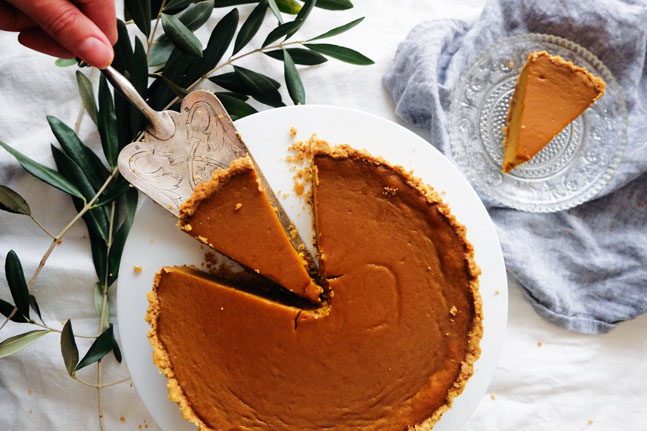 Try our Spiced Sweet Potato and Pumpkin Pie Recipe