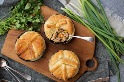 Georga Harding's Chinese Chicken Shiitake Pie Recipe