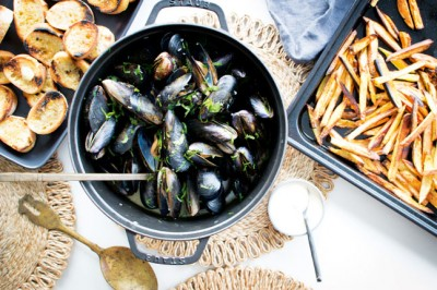 Try our Dutch Creamy Mussels with Garlic Bread Recipe
