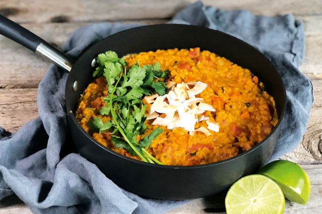Try our delicious Indian Coconut Lentil Curry Recipe