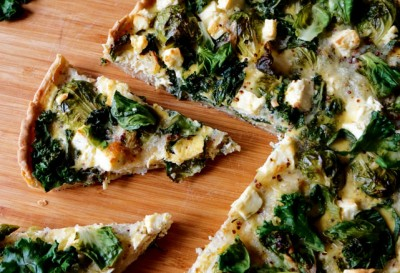 Meg Thompson's Brussels Sprout, Kale and Feta Pie Recipe