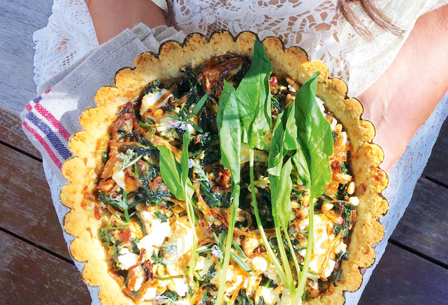 Try Lee Holmes' Spinach Goat's Cheese and Pine Nut Tarts