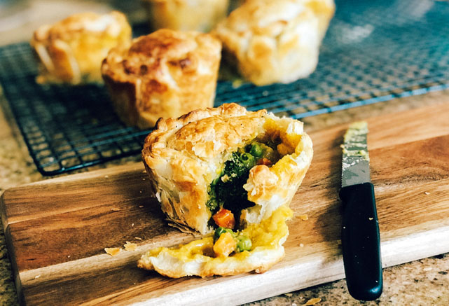 Try Adam Guthrie's delicious Vegetable Curry Pie Recipe