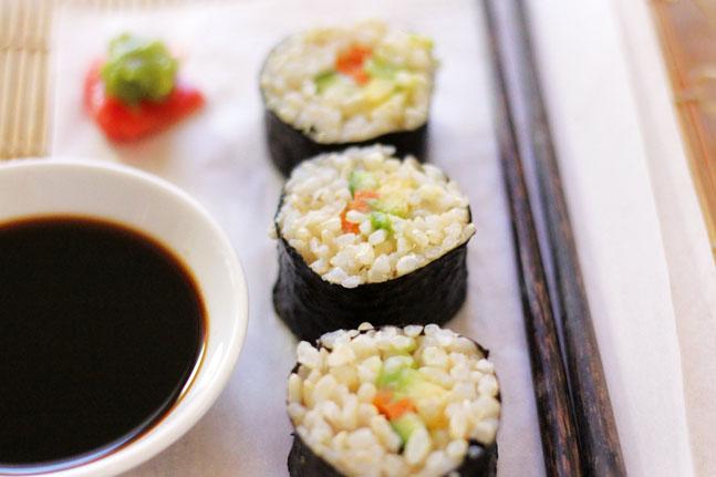 Try Adam Guthrie's tasty Brown Rice Nori Rolls Recipe
