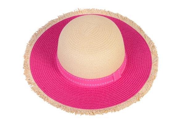 kids pink frayed hat