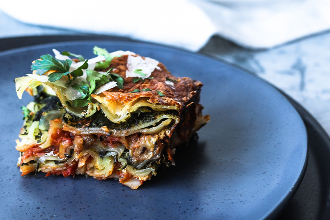 Iron-boosting Eggplant and Spinach Lasagne Recipe